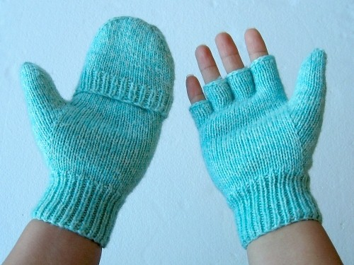 Fingerless Gloves Knitting Pattern For Toddlers : Convertible Mitten Pattern